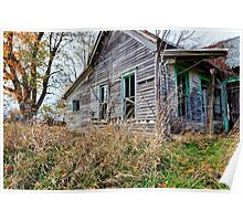Old Decaying House Poster