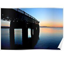 Tay Rail Bridge Sunset Poster