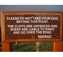 Sheep Sign Photographic Print