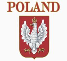 Poland Crest with Eagle t shirt by PolishArt