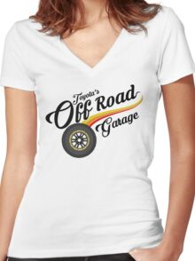 Off Road Garage Women's Fitted V-Neck T-Shirt