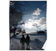 contraluz en invierno Poster