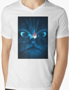 Cat Fish Mens V-Neck T-Shirt