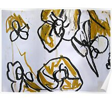 some yellow flowers (detail) Poster