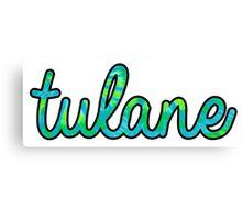 Tulane Tie Dye Canvas Print