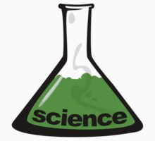 Science Beaker Green Kids Tee