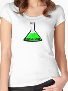 Science Beaker Green Women's Fitted Scoop T-Shirt