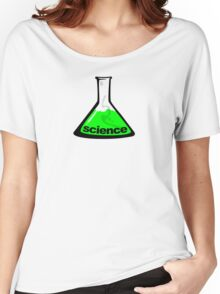 Science Beaker Green Women's Relaxed Fit T-Shirt