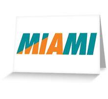 Miami MIA Greeting Card