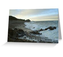 Findochty beach at dusk Greeting Card