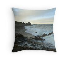Findochty beach at dusk Throw Pillow
