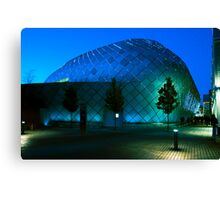 Evening shopping at the Arc Canvas Print