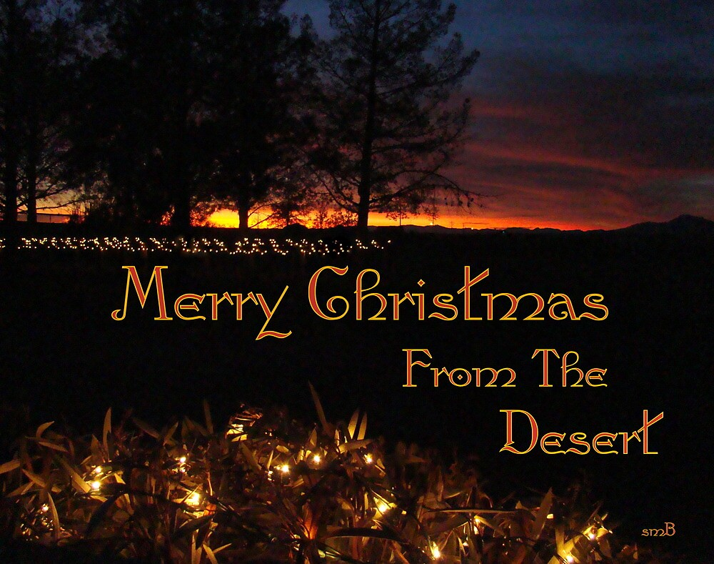 Quot Merry Christmas From The Desert Quot By Susan Bergstrom