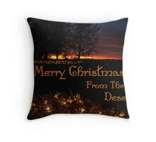 Merry Christmas From The Desert Throw Pillow