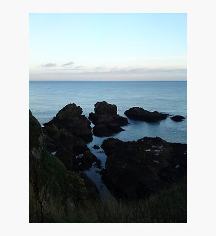 Seascape from Slains Castle, Aberdeenshire Photographic Print