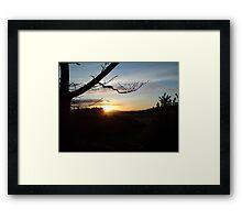 Dusk over Royal Deeside Framed Print