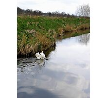 Defensive - River Welland Photographic Print