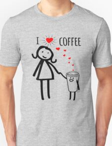 Cute I Love Coffee Tees Unisex T-Shirt