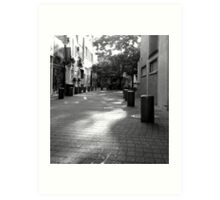 Quiet Time in Market Lane Art Print