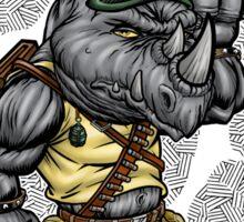 80's Rhino Man Sticker
