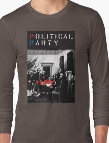 Political Party! shirt (and other items available too) - Choose shirt style/color! (tshirt with red solo solos, shades, beer pong)  T-Shirt
