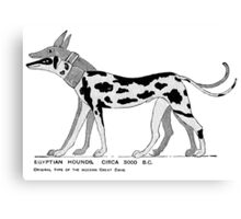 Stylized depiction of ancient Egyptian dogs Canvas Print