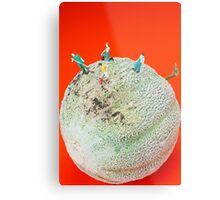 Dirty Cleaning On Sweet Melon Metal Print