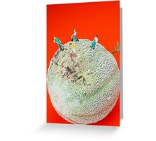 Dirty Cleaning On Sweet Melon Greeting Card