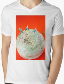 Dirty Cleaning On Sweet Melon Mens V-Neck T-Shirt
