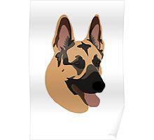 German Shepherd Bust Poster