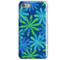 Blue and Green Floral Design iPhone Case/Skin