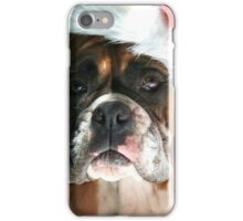 Christmas Boxer dog iPhone Case/Skin
