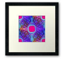 Vaporwave-Rainbow Digital Lace Framed Print