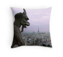 The Coming Night in The City of Light Throw Pillow