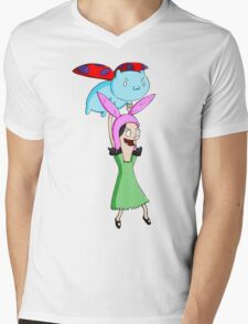 Catbug and Louise Mens V-Neck T-Shirt