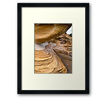 The Painted Cliffs Framed Print