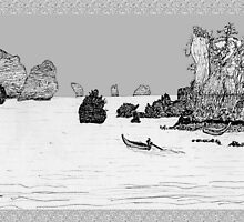 Thailand - the view from Ton Sai beach * by James Lewis Hamilton