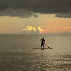kayak in the sunset by ceciperu