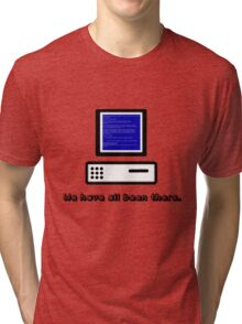 Blue Screen  Tri-blend T-Shirt