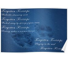 Forgotten footsteps with poem Poster