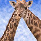 """Two Necks Are Better Than One"" - giraffes by ArtThatSmiles"
