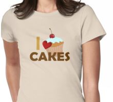 I love cupcakes Womens Fitted T-Shirt