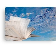 """""""Musical Winds"""" surrealistic photo montage musically inspired Canvas Print"""