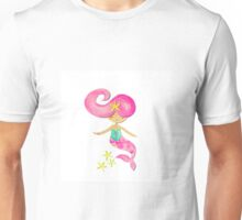 Summer the Mermaid By Four Cheeky Monkeys Unisex T-Shirt