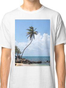 palm tree on the beach Classic T-Shirt