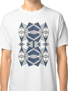 Triangle Tribal #2 Navy Classic T-Shirt