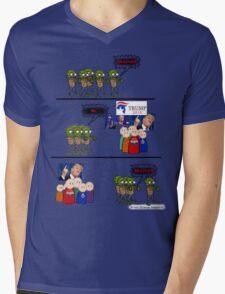 BRAINS!!! Mens V-Neck T-Shirt