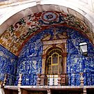 Ornate Tiled Facade - Obidos, Portugal by Marilyn Harris