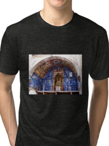 Ornate Tiled Facade - Obidos, Portugal Tri-blend T-Shirt