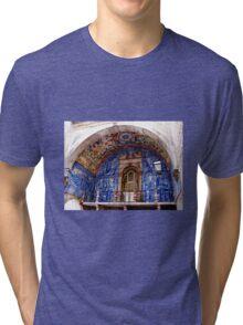 Ornate Tiled Facade - Obidos, Portugal Tri-blend T-Shirt